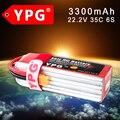 Ypg 22.2 v 3300 mah 35c 6 s lipo li-po lipo batería para rc trex helicópteros y aviones y coche