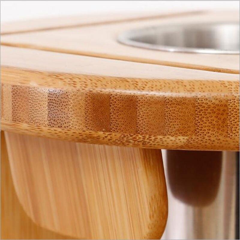 Bamboo Kitchen Knife Holder 3
