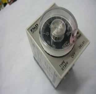 цена на 220V AC Power Off Delay Timer Time Relay 10 minutes ST3PF & Base