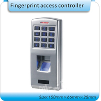 Free shipping Metal shell/waterproof access control fingerprint + password access control/ RFID wg26 port