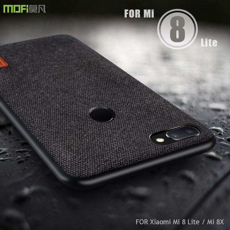 for xiaomi mi 8 lite case cover MOFI For Xiaomi Mi 8X Back Fabric Case for xiaomi mi8 lite Soft edge Full Cover Business Case