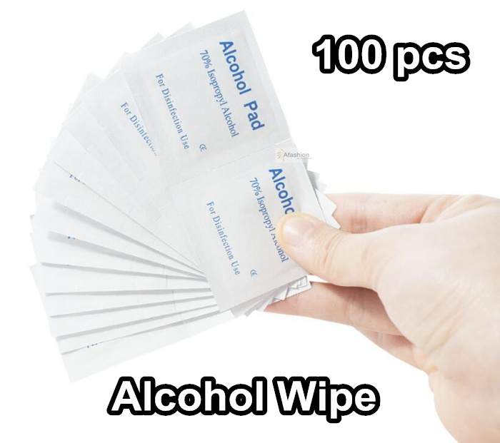 100pcs Alcohol Wipe Pad 70 Isopropyl Wet Wipes Swab Tattoo Skin Care Jewelry Mobile Phone Glass Clean Tools
