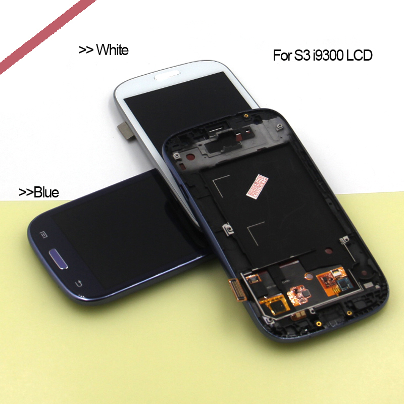 For Samsung Galaxy S3 LCD Display+Touch Screen For Samsung S3 I9300 Display Digitizer Assembly+frame Replacement Accessories