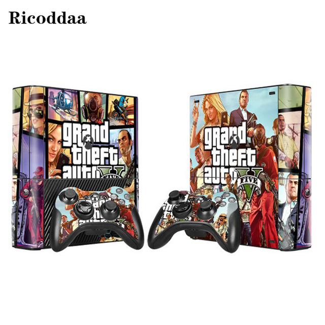 Gta v vinyl decal skin stickers for microsoft xbox 360 e and 2 controller skins