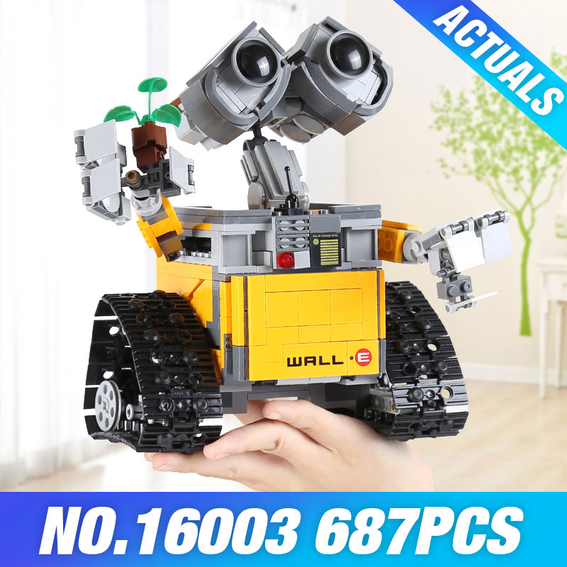 Lepin 16003 687pcs Idea Robot WALLE Model Building Kits Blocks Bricks Educational DIY Toys For Children Gifts Legoed 21303 4 in 1 solar robot educational model building kits diy