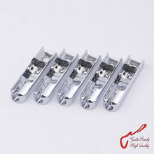 1 Set ( 5 pieces ) GuitarFamily Single-String Bass Bridge With Lock Down For 5 Strings Electric Bass  ( Chrome )  MADE IN KOREA
