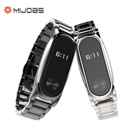 Plus Stainless Steel Metal Strap for Xiaomi Miband 2 Smart Bracelet Watchband Screwless Wristband Xiomi Mi Band 2 Replace Belt