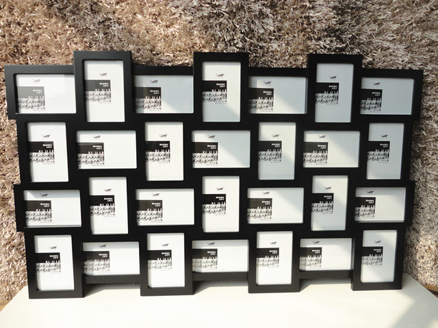 black wall photo frame collection wmulti frame 4x6 inch x28pcs - Multi Frame