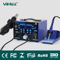 YIHUA 862BD+ 2in1 SMD Rework Soldering Station Hot Air Gun Solder Iron With magnifying glass LED lights Multifunctional solder