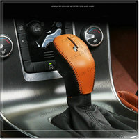 New Car Styling Genuine Leather Gearbox Joystick Decoration For Volvo Xc60 V40 V60 S60 2014 2016