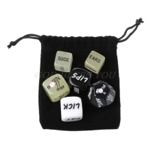 Erotic Dice Couple Gift Love-Game-Toy Acrylic Fun 6pcs