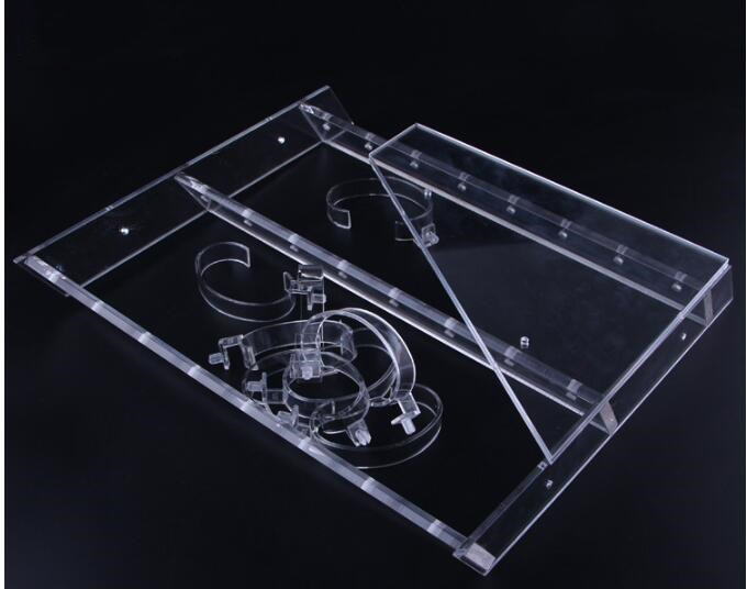 Clear Acrylic Watch display stand watch display frame bracelet Holder Jewelry Showcase Watch Bracelet display rack free shipping in Storage Holders Racks from Home Garden