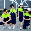 2017 New Family Matching Outfits Active Family Clothing Sets Mother and Daughter Father Son Clothes Family Set 3XL 4XL YY20