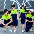 2017 nova família roupas combinando família ativa clothing define mãe e filha filho pai roupas definir família 3xl 4xl yy20