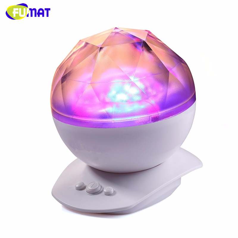 FUMAT LED Night Lights Projector Color Changing Night Lamp Aurora Star Borealis Projector Kid Speaker Lamp Baby Cute Night Lamps