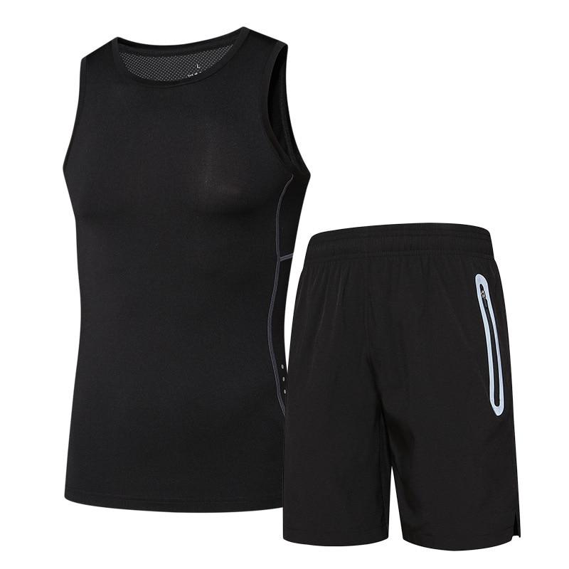 2PCS Men football suit set   Short sleeve /& Shorts sports Playsuit size XL