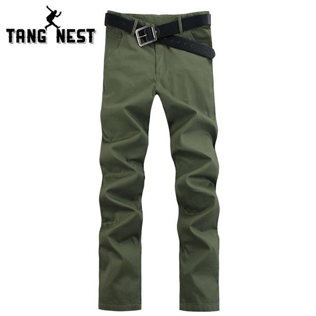 Hombres Pantalones Largos 2017 Primavera Nueva Moda Casual Slim Fit Pantalones sólidos Para Hombres Pantalon Homme Plus Tamaño Asiático 46 MKX747
