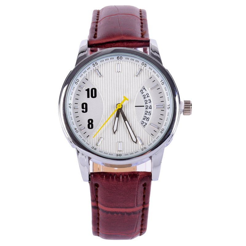 Fashion PU leather sports quartz watch for man military chronograph wrist watches men army style цена