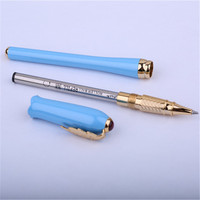1pc/lot Picasso 986 Blue Roller Ball Pen Gold Clip Pimio Picasso Irene Ball Pens Canetas Women Gifts With Retail Box 13.5*1.1cm