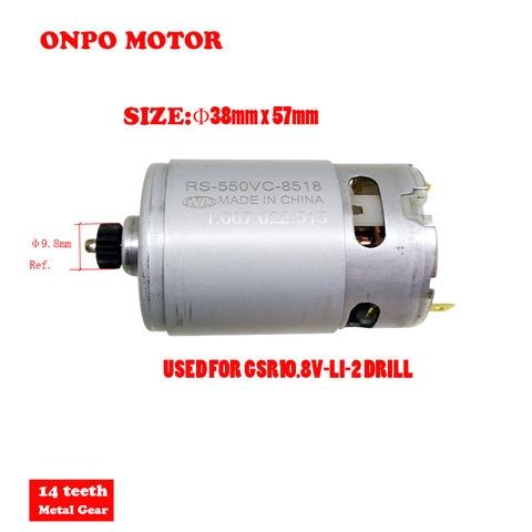 onpo rs 550vc 8518 11 dente do motor motor para manutencao de bosch gsr10 8v