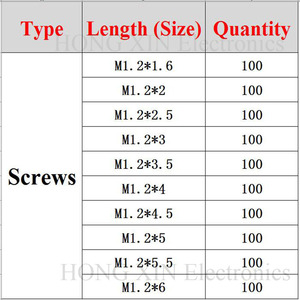 Набор для ремонта часов 1000 шт./компл., разнообразные Винты для часов, набор для ремонта часов, инструменты для ремонта часов, диаметр 10, диаметр 1,2 мм, стекло для ремонта очков