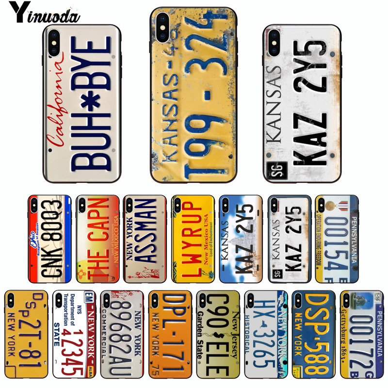 Yinuoda Supernatural funny License Plate number Newly Arrived Phone Case for Apple iPhone 8 7 6 6S Plus X XS MAX 5 5S SE XR image