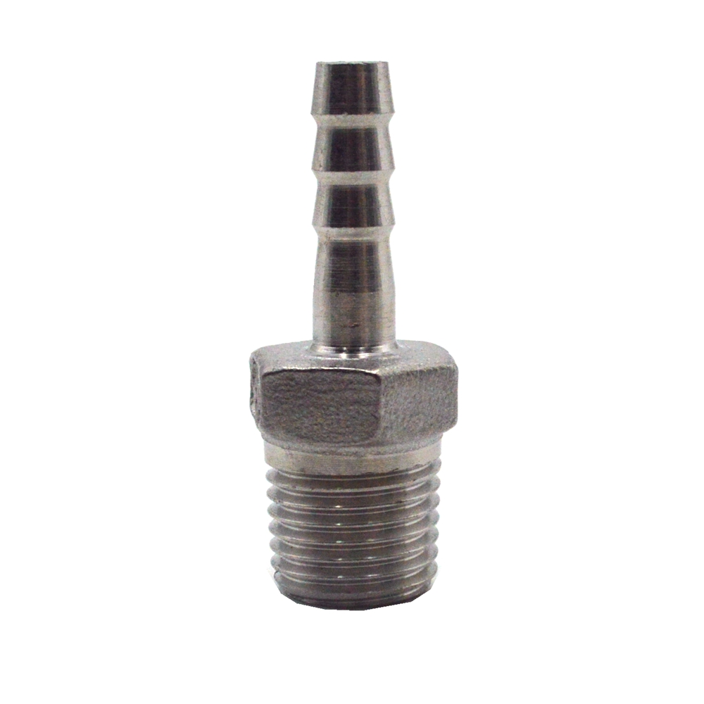 1/8 - 3/4  Male Thread Pipe Fitting X 6mm - 25mm OD Barb Hose Tail Connector BSP Stainless Steel