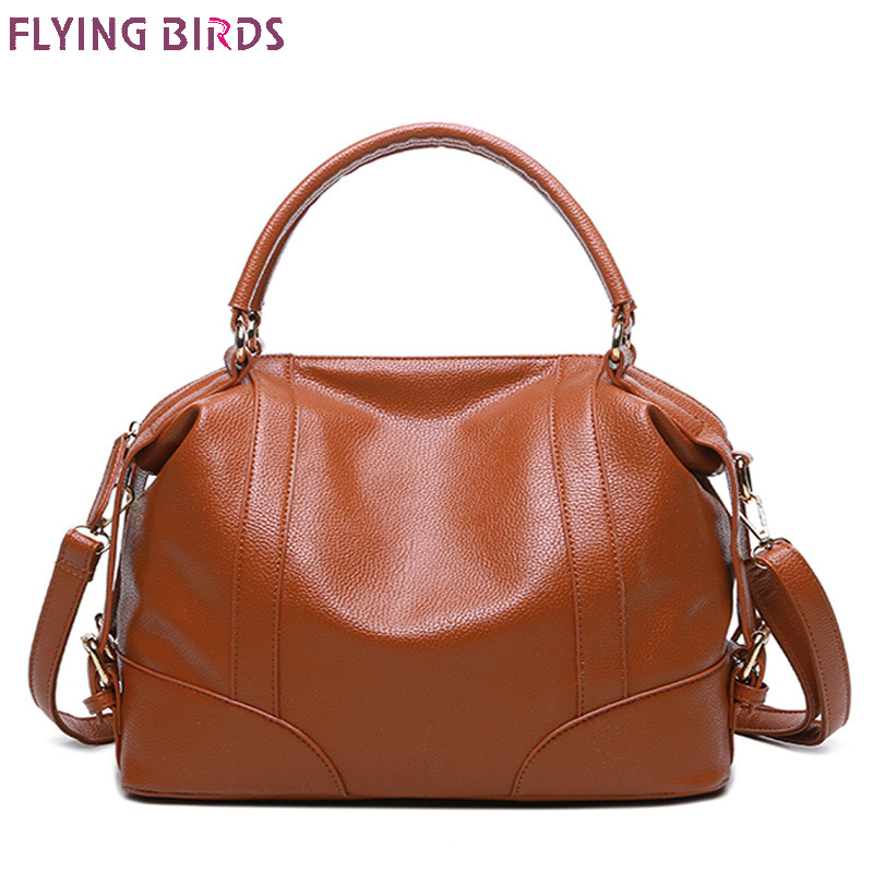 Flying Birds Women Tote Bag Pu Leather Handbags Brands Shoulder Bags Top Messenger For