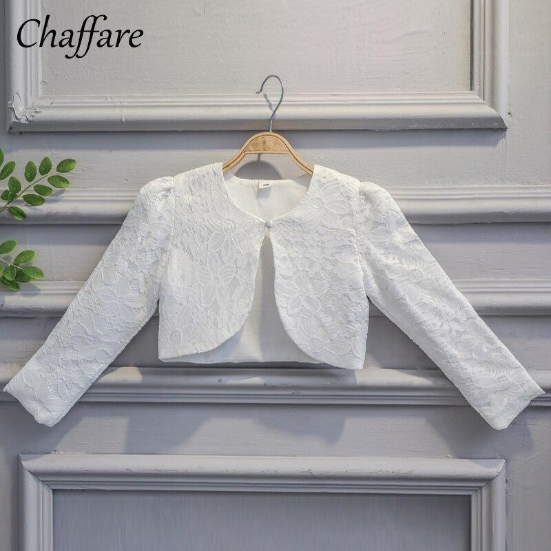 Niños Niñas Encaje Cardigan Baby Long Sleeves Crochet Bolero - Ropa de ninos
