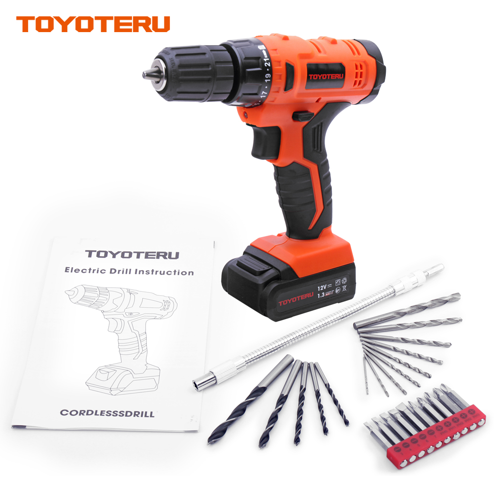 TOYOTERU 12V DRILL Lithium Battery Rechargeable Parafusadeira Furadeira Multi-function Cordless Electric Drill Power Tools 12v electric screwdriver lithium battery rechargeable parafusadeira furadeira multi function cordless electric drill power tools
