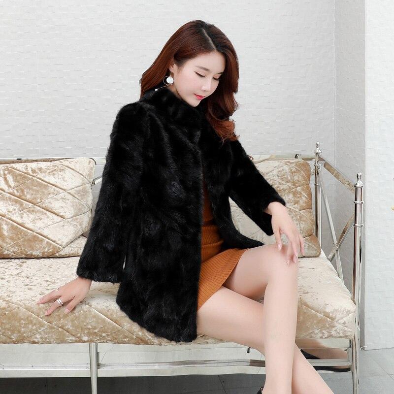 Femmes Ayunsue Fourrure Manteaux Wyq1577 Naturelle Real Veste De Noir Véritable 2018 Luxury Vison Manteau Des Épais Hiver New Chaud Survêtement r0qBnR8r