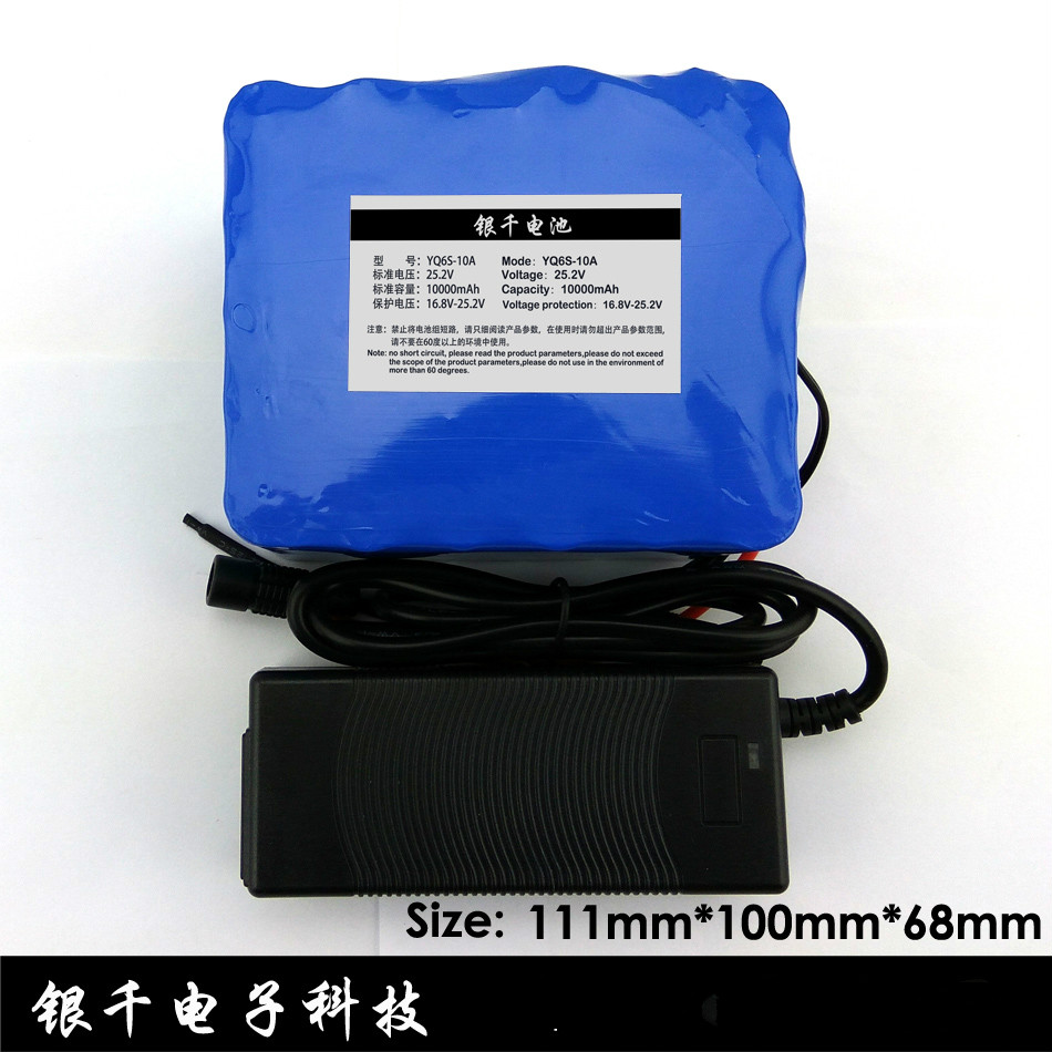 24V 10 Ah 6S5P 18650 Battery lithium battery 24 v Electric Bicycle moped Electric Li ion