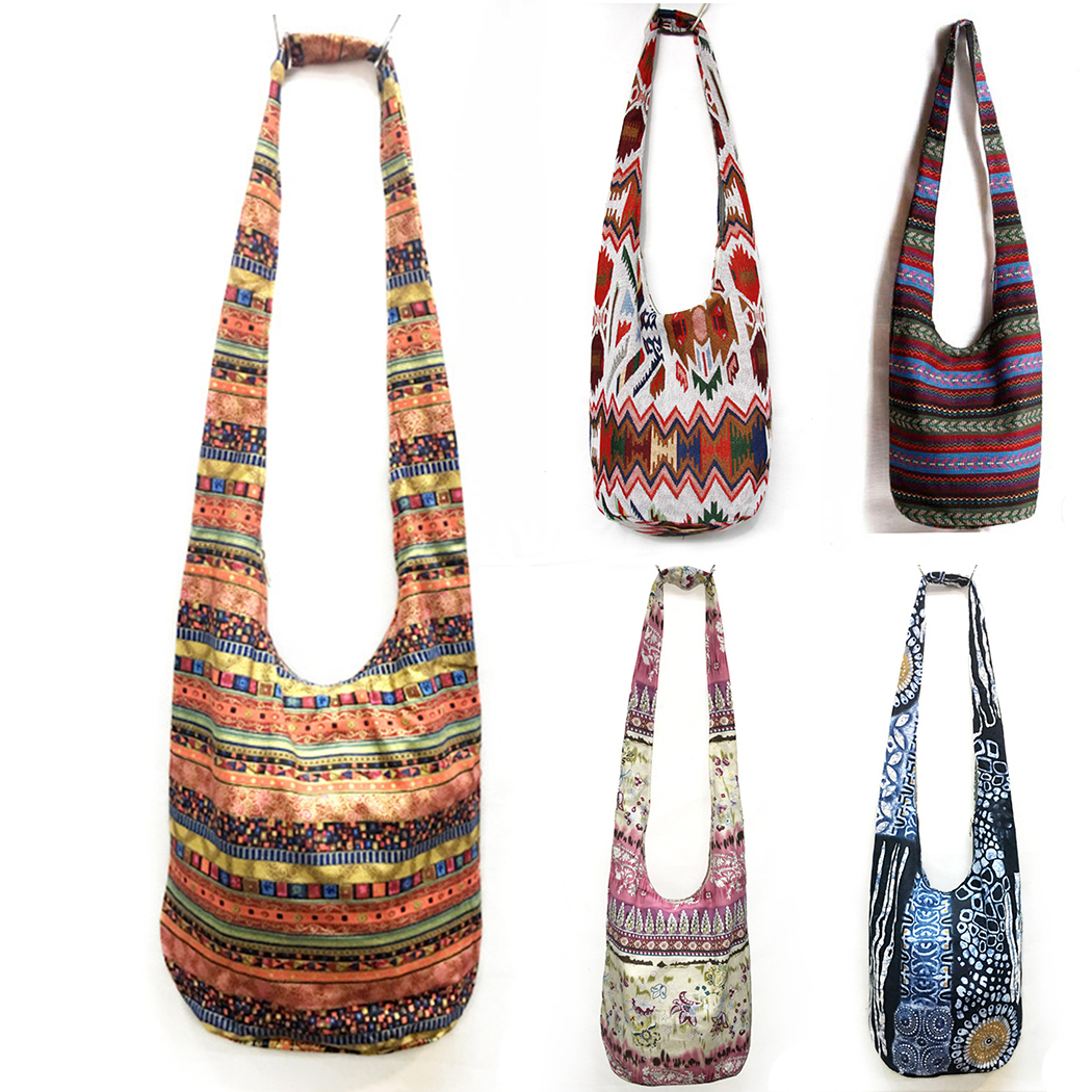 Baellerry Women Unique Ethnic Shoulder Bag Hippie Gypsy <font><b>Tribal</b></font> Bags Hipster Handmade Travel Bags Crossbody Cotton Thai <font><b>Handbags</b></font>