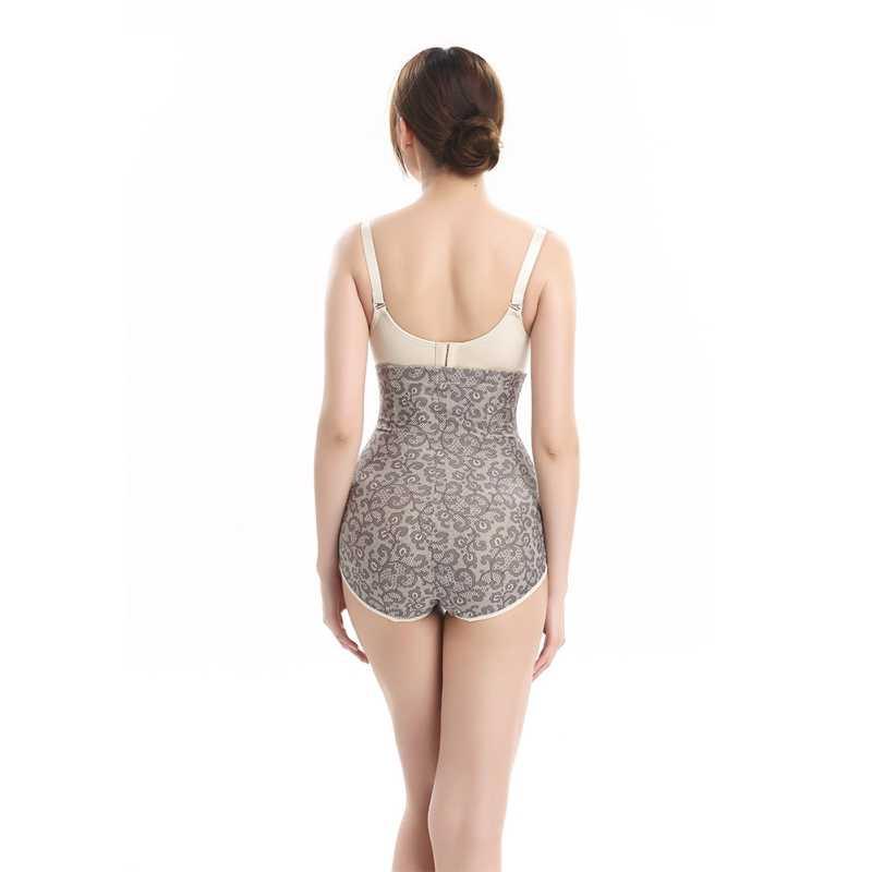 282f8a68937 ... Women Vintage Body Shaper Control Slim Embroidery Panties Shaped  Underwear Tummy Corset High Waist Shapewear Panty ...