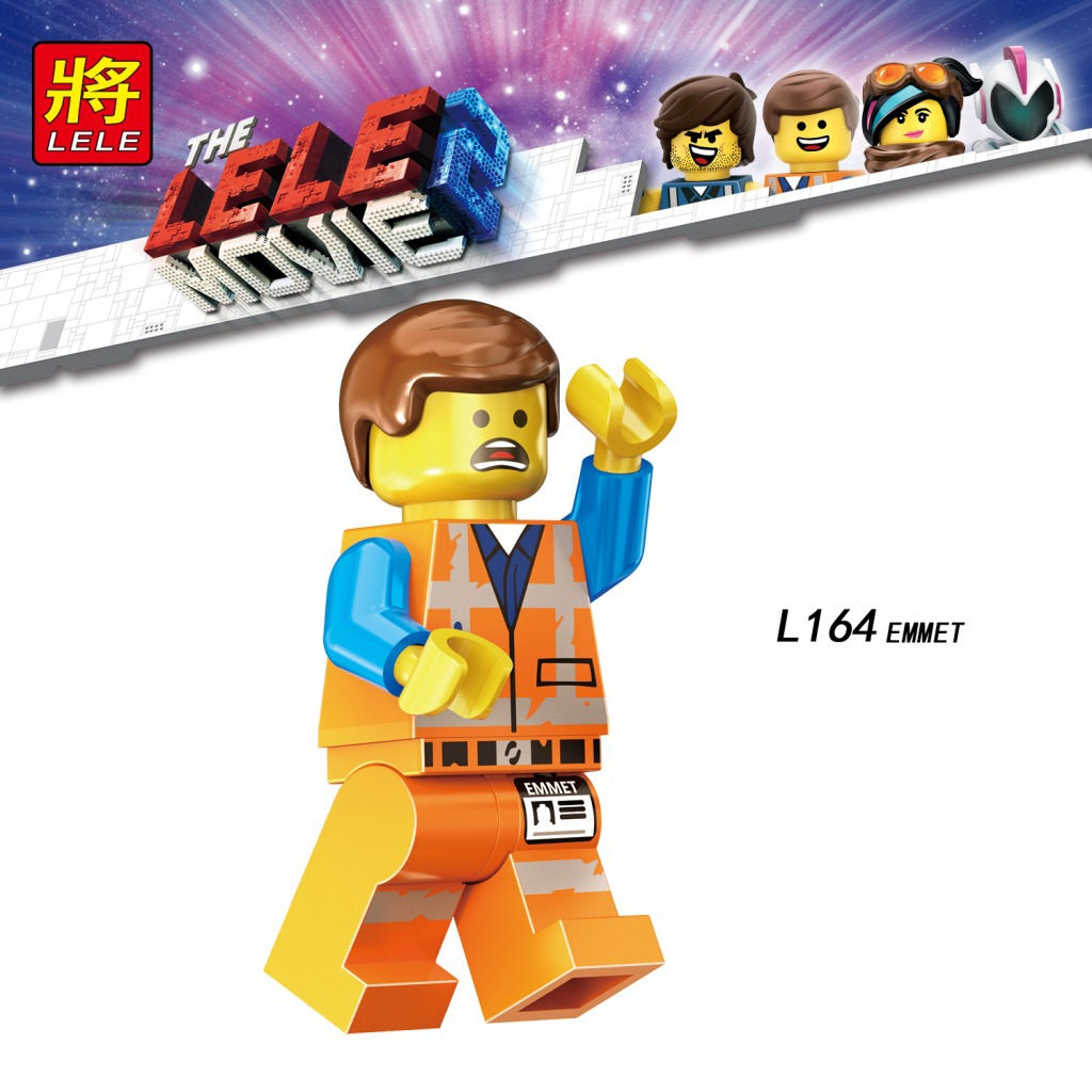 Single Sale Legoinglys Movie 2 Anime Emmet Lucy Rex Melody Disco Kitty Tempo Sharkira Metalbeard Collection Toys Children Gift
