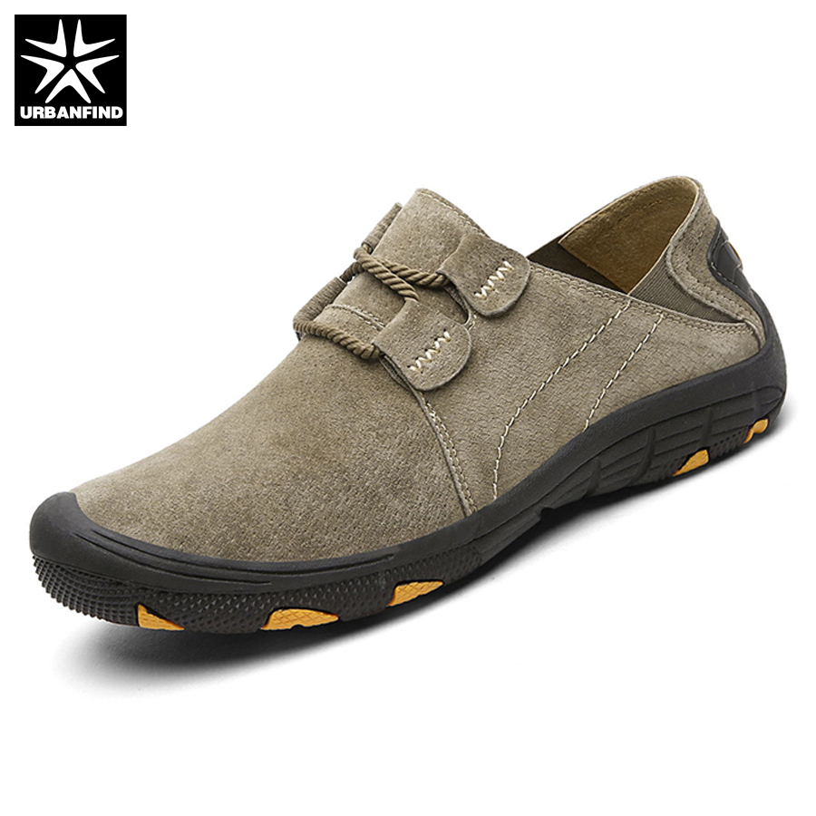 URBANFIND Men Casual shoes Man Pig Suede Sneaker Size 38-45 Male Loafers Shoes Genuine Leather Shoes Autumn Outdoor Footwear new 2017 men s genuine leather casual shoes korean fashion style breathable male shoes men spring autumn slip on low top loafers