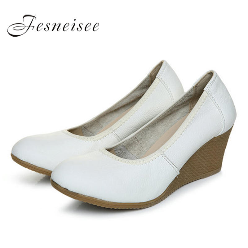40 5cm Mujeres Femininos En Para Resbalón 34 Auténtico Bombas Cuero Cuñas white Las Zapatos 2017 0 Black Zk4 Heel Tamaño white Oxford 3 6cm Mujer Sapatos black Ocasionales 3 5cm 6cm q6vwATn