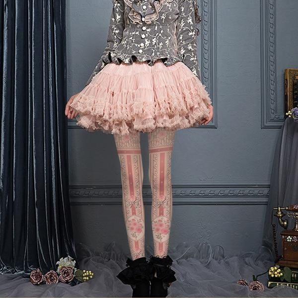 Quality print stockings fashion bow flower soft sweet lolita pantyhose legging stockings