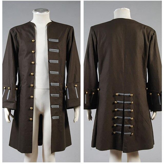 Piratas del Caribe traje adulto hombres Jack Sparrow chaqueta sólo  Halloween carnaval Cosplay traje dc6576b9b884
