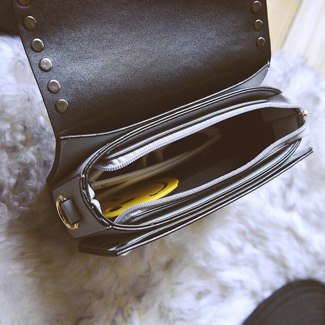 Spring Autumn New Fashion Rivet Mini PU Leather Crossbody Bags For Women's Famous Brand Designer Handbags Ladies Shoulder Bags