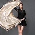 Mulheres Lenços de Seda de Alta Qualidade Simples Senhoras Leopardo Cachecol Echarpe & Poncho Para As Mulheres Xales de Praia