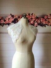 100% Real Photo 2017 Bridal Bolero Lace Wedding Shrug Keyhole Back Sleeveless Bride Wrap Wedding Jacket Women Custom Made цены