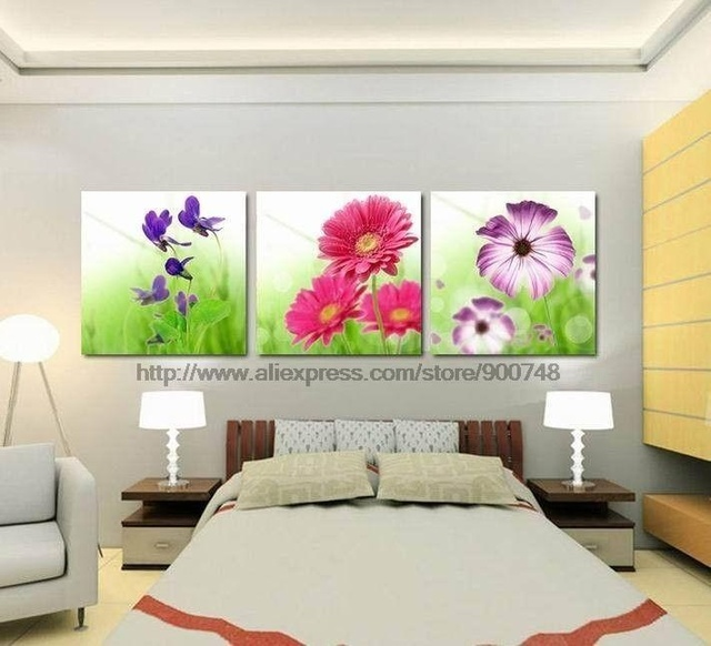 Captivating Modern Flower On Canvas Art D Oil Painting Discount Decoration Living Room Wall  Decor Paintings Modern