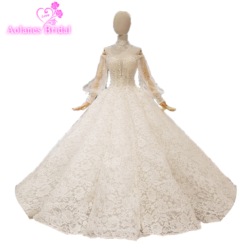 2018 New Whoesale Real Show Off White Champagne Fabric Beading Tassel Off The Shoulder L ...