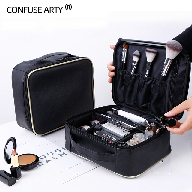 Professional clapboard portable cosmetic bag small portable simple makeup waterproof storage bag 1