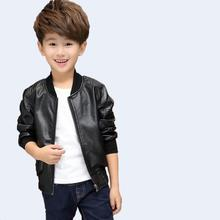 Kids Clothes Baby Boys Leather Jackets 2018 Autumn Winter Fashion O-neck Zipper Thicken For Boy Children Clothing 3jk102