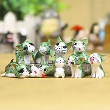 9pcs/set Chi's Sweet Home Cat Cats Figures Animal Decoration Action Figures Collection Model Toys 3-4cm for Xmas Gift