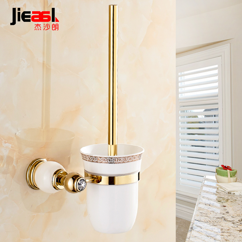 European Style Br Marble Toilet Brush Holder Rose Gold Plated Bathroom Products Accessories Useful 7904 In Holders