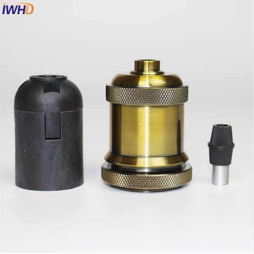 IWHD 2PCS E27 Retro Socket Lamp Base Holder E27 Vintage Pendant Light Socket Base Vintage Light Screw Socket for Light Fittings
