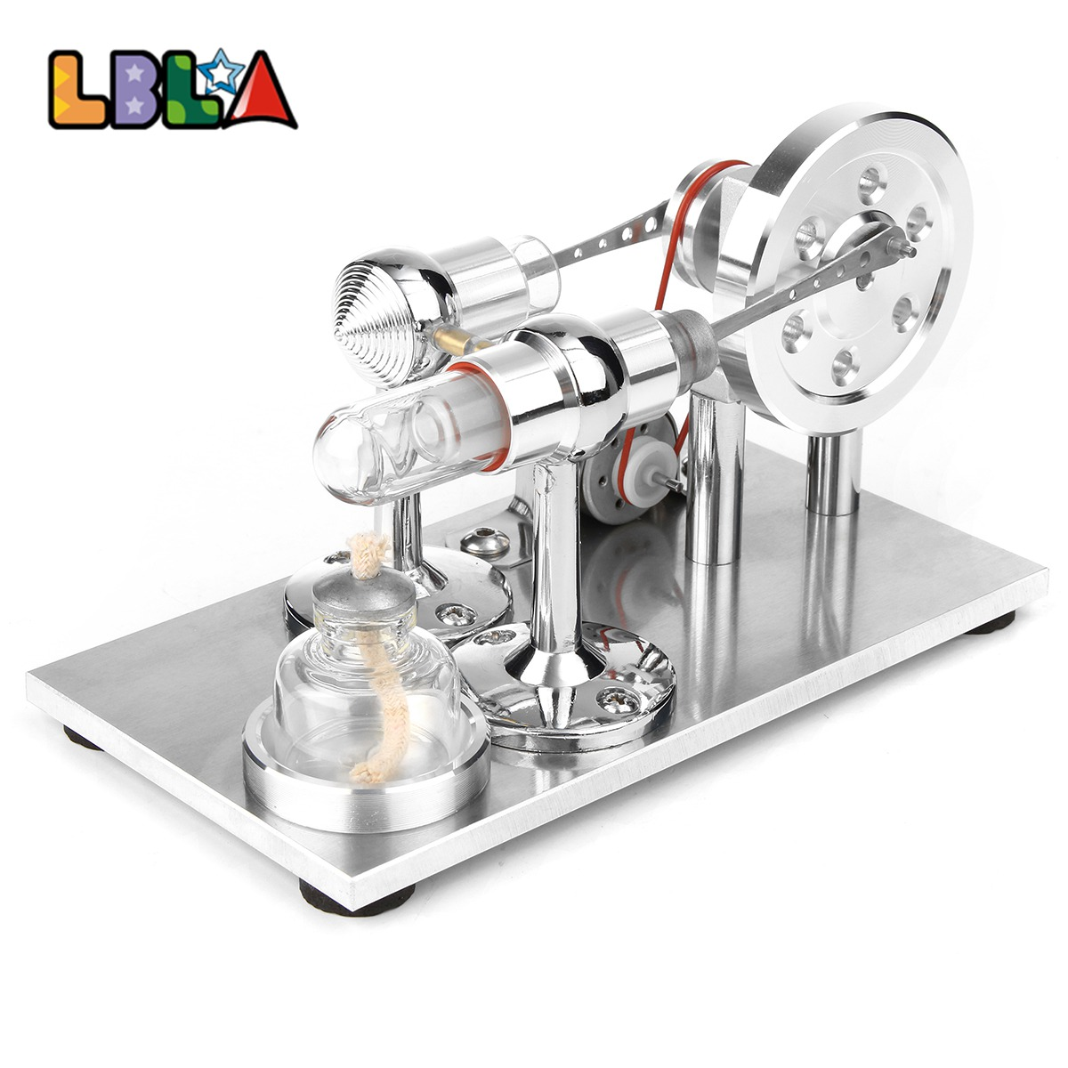 LBLA Hot Air Stirling Engine Model Power Generator Motor Educational Steam Toy Update Educational Science Toy Gift For Children цена 2017